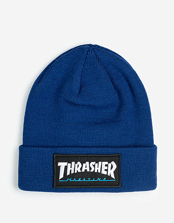 Фото Шапка Thrasher Logo Patch Beanie Hat Blue