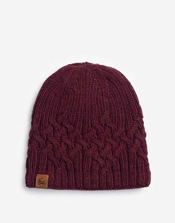 Фото Шапка BUFF Helle Wine Knitted & Polar Hat