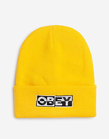 Фото Шапка Obey Downbeat Beanie Yellow