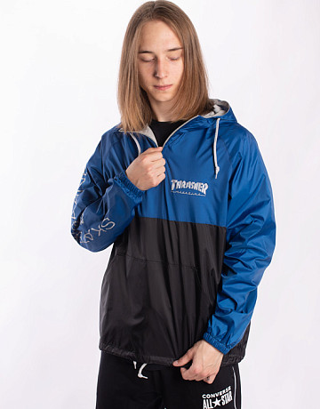 Фото Мужской анорак Thrasher Mag Logo Anorak Jacket Navy/Grey