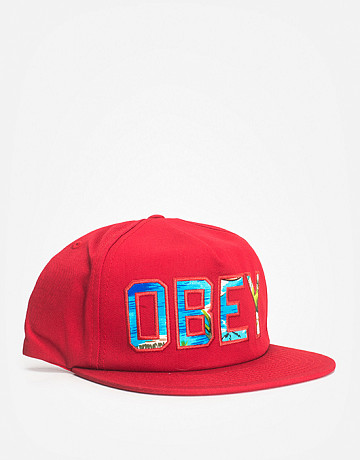 Фото Кепка Obey Wharf Dark Red