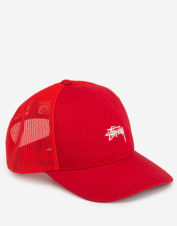Фото Кепка Stussy Low Pro Trucker Red