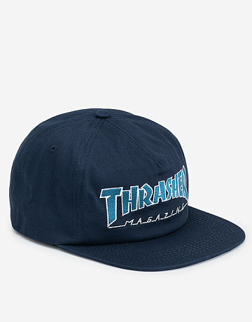 Фото Кепка Thrasher Outlined Snapback Navy/Grey