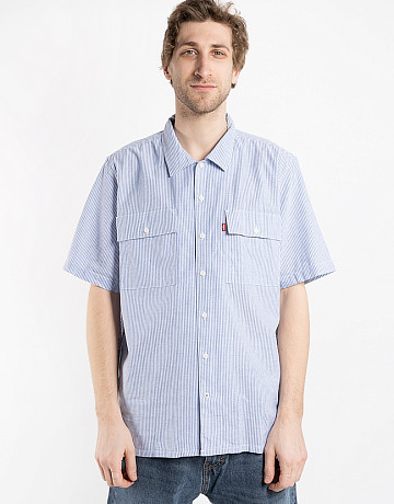 Фото Мужская рубашка Levi's Skateboaridng Button Stripe blue/white
