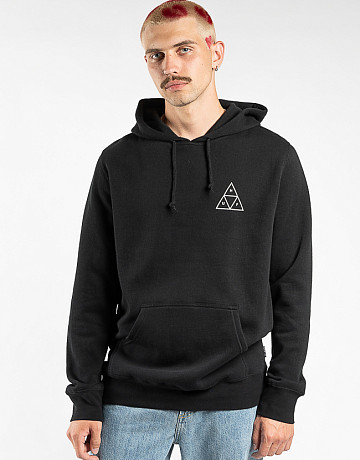 Фото Мужская толстовка HUF Essentials Triple Triangle Hoodie Black