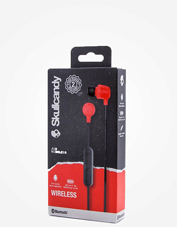 Фото Наушники Skullcandy Jib Wireless Mic Black Red