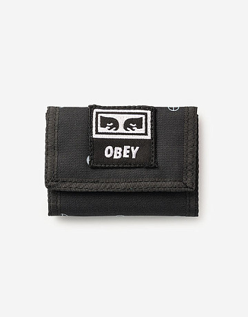 Фото Кошелёк Obey Drop Out Tri Fold Symbol Black